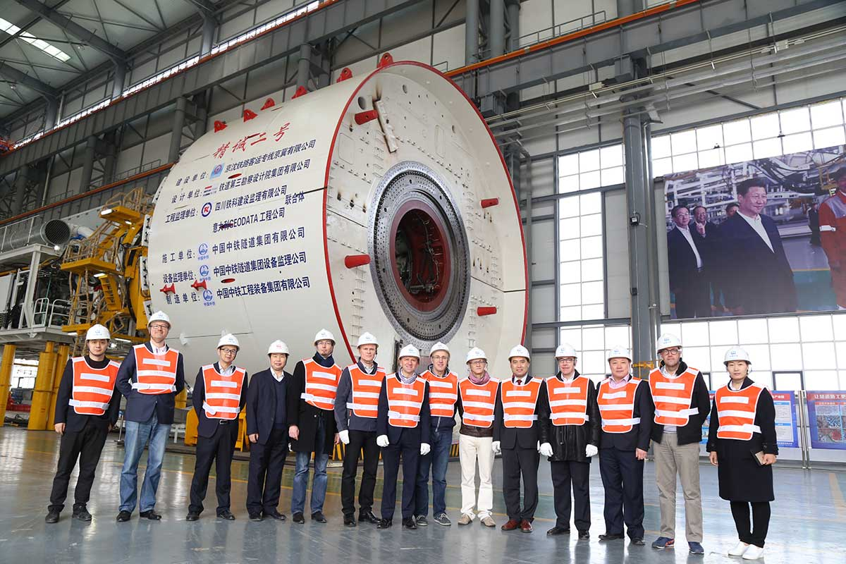 Bouygues Delegation visits CREG in Zhenzhou China